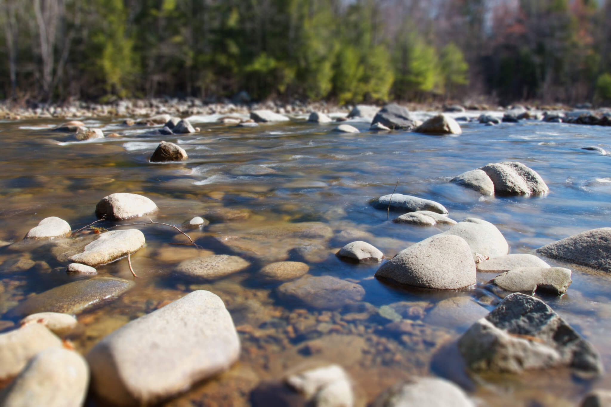 River and pebbles