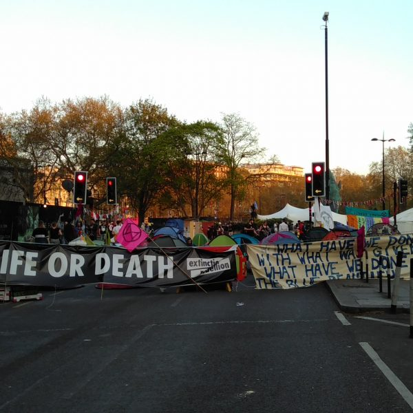 Marble Arch with banners
