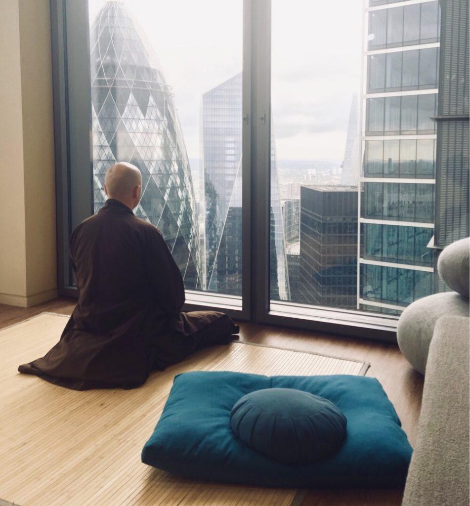Monk in Skyscrapper